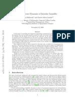 Endogeneous Dynamics of Intraday Liquidity