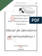 Manual de termodinámica