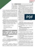 Orientaciones Para El d Resolución Ministerial No 070 2018 Minedu