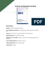BDI-II Ficha Técnica