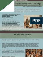 Orígenes Del Teatro y La Comedia Romana