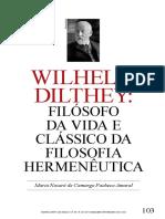 Wilhelm D i lt h e y-filósofo Da viDa e clássico Da filosofia hermenêutica.pdf
