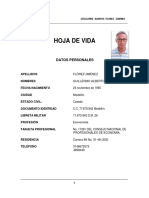 Hoja de Vida Guillermo Florez1