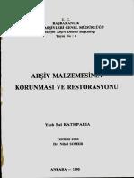 ARŞİV MALZEMELERİNİN KORUNMASI VE RESTORASYONU.pdf