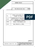 Design Calculation of Formwork for Slab & Beam