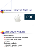 Selected) History of Apple Inc