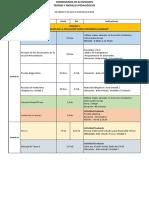 Cronograma de Actividades Dada Universidad
