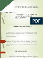 INTERPRETACIÓN CONSTITUCIONAL