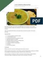 Sopa de Batatas Com Salsicha Alemanha