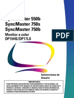 Manual SyncMaster 550