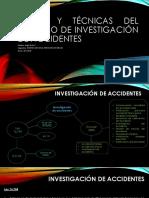 Tarea semana 1 Teoría y técnicas del proceso de investigación de accidentes.