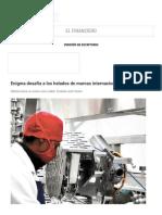 La Razón (Bolivia) _ Enigma Desafía a Los Helados de Marcas Internacionales