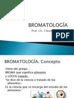 Bromatologia Clase 1-2-3 2019