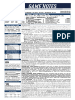07.03.19 Game Notes