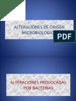 ALTERACIONES MICROBIOLOGICAS