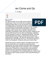 Menand TS Eliot and Misogyny