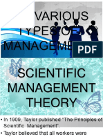 Types of Managment Theory