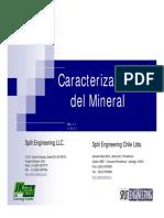 Caracterización Del Mineral