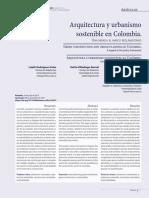 Arquitectura y Urbanismo Sostenible en Colombia