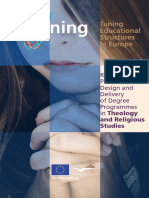 2012_3_Tuning Educational Structures in Europe Reference Points for the Design and Delivery of Degree Programmes in Theology and Religious Studies