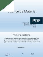 2019 Balance de Materia