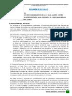 Resumen Ejecutivo, Elias Aguirre