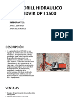 Rock Drill Hidraulico Sandvik Dp i 1500