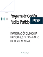 Gestión pública participativa