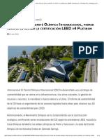 Nueva Sede Del Comité Olímpico Internacional, Primer Edificio en Recibir La Certificación LEED v4 Platinum _ Climatización y Refrigeración - ACR Latinoamérica