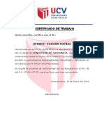 Certificado de Traba Cesar Vallejo