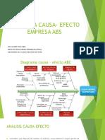 Diagrama Causa- Efecto Empresa