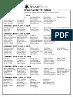 July 6, 2019_Yahrzeit List