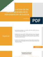 PP Funciones y Acceso de Los Cuerpos Generales de La AJ