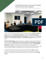29-06-2019- Alumnas de La Universidad de Arizona Reconocen El Trabajo Que Se Realiza en Sonora a Favor de Las Mujeres- Expreso