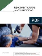 Antijuridicidad y Causas de La Antijuridicidad