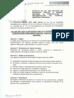 Ley Que Declara de Necesidad Pública e Interés Nacional La Construcción e Implementación Del Hospital Geriátrico Nacional