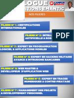 Catalogue de Formation Du Campus Emantic