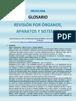 Glosario. Revisión Por Órganos y Sistemas. Medicina