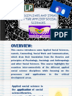 Discipline and Ideas in Applied Social Sciences