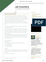 Sustentabilidade Comunitária_ Outubro 2009