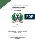 Rancangan Aktualisasi Dan Habituasi Profesi Asn Di Puskesmas Gunungsari Kota Cirebon
