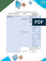 Anexo Matriz Para La Identificación de Condiciones de Trabajo