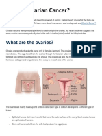 What is Ovarian Cancer