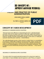 Concept of Underdeveloped Gunnar Myrdal
