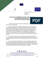 EU Statement on 7 Nov 2010