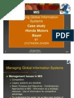MIS - Honda and Bayer case study