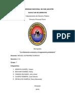 Procesal Penal Inducciones