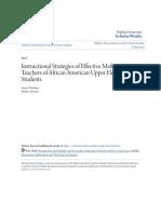 Instructional Strategies of Effective Mathematics Teachers of Afr