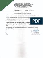 Mahesh Kumar FT Certificate