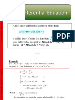 Exact Differential Eqauation